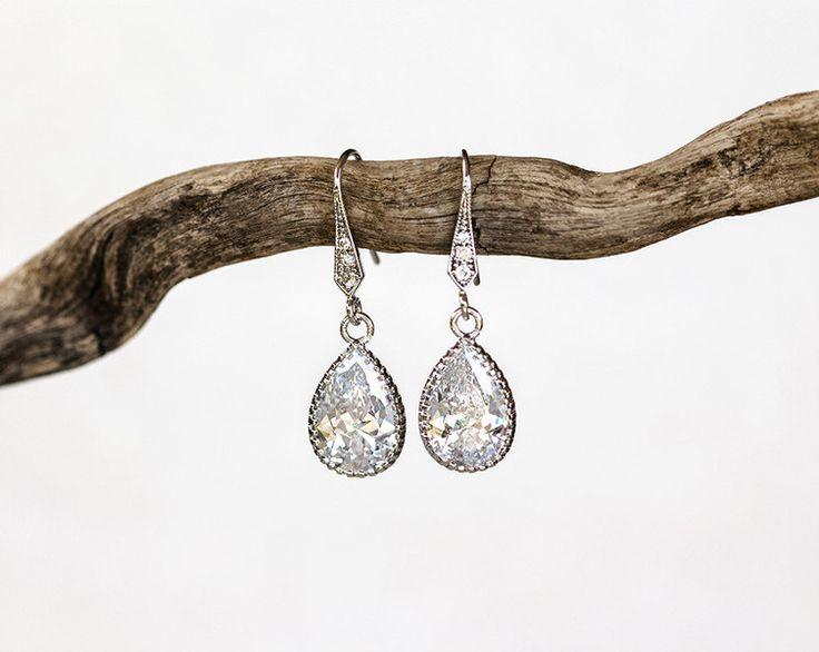 Brautschmuck - Hochzeitskristall, tropfenohrringe,Silberhochzeit - ein Designerstück von Arsiart bei DaWanda