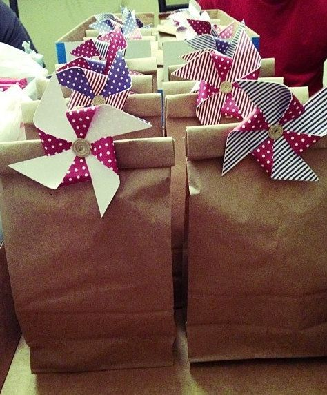 Gift Bags with Pinwheel Clothes Pin Closures by CEDesignsandEvents, $20.00