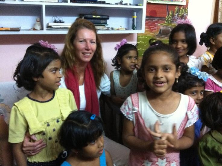 India in February 2012. Beautiful girls!