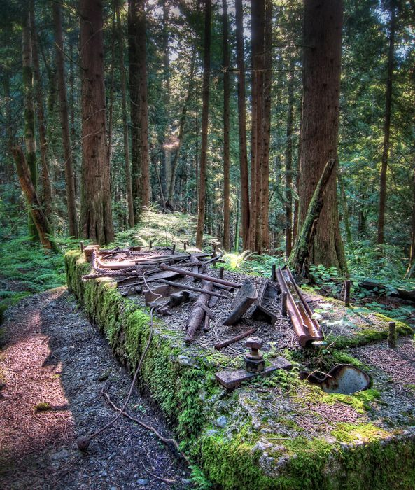 The remains of an old mill that was in operation in the early 1900s.  This is just a short walk from West Vancouver along a well marked a hiking trail.Stockings Photos, Hiking Trail, Mills, Ears 1900S, Remain, Early 1900S