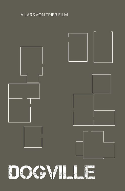 Minimal Movie Posters - DOGVILLE