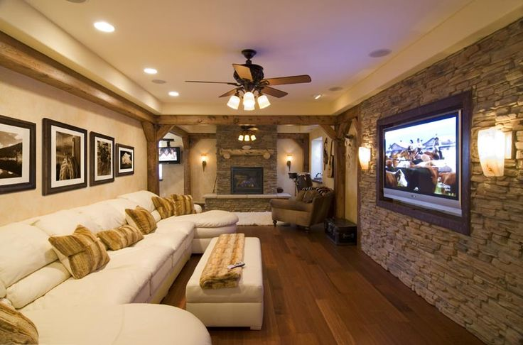 If not a basement guest room then a basement home theater! #TradingPhrasesContest
