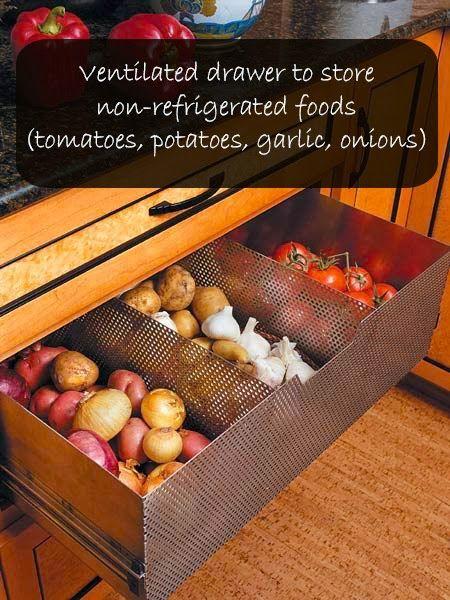 Rayonnage ventilé pour conserver oignons, pomme de terre ...
