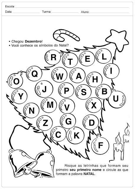 Atividades Escolares de Natal para Imprimir — SÓ ESCOLA