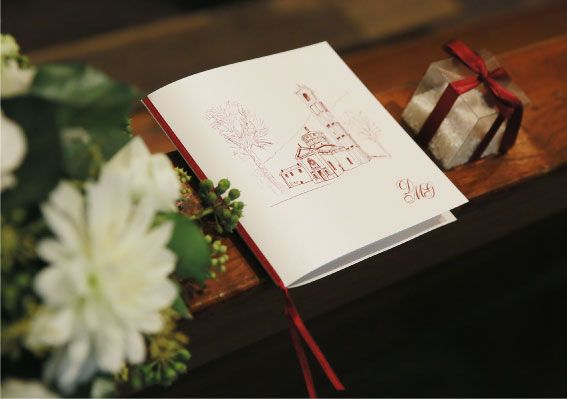 Wedding stationary in burgundy and ivory.