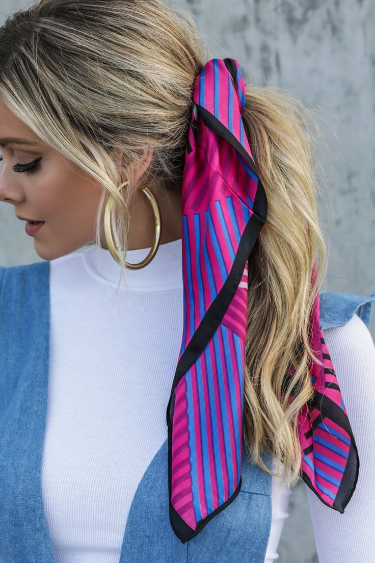 Collectively Now Pink Multi Scarf
