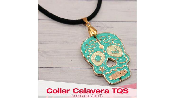 Cómo Hacer un Collar para Halloween con Calavera TQS Rápido y Fácil - Va...