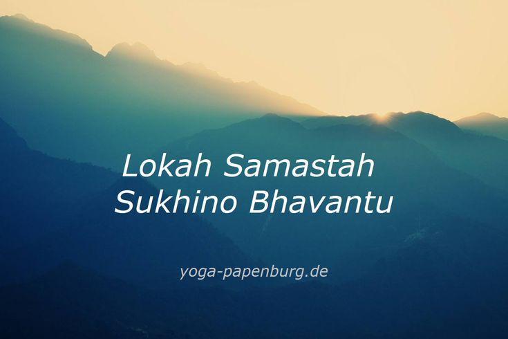 Lokah Samastah Sukhino Bhavantu -