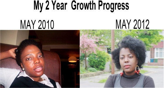 natural hair 2 year growth progress and comparison