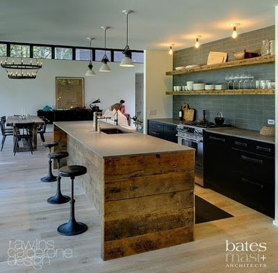 (bates + masi architects): Kitchens, Ideas, Interior, Reclaimed Wood, House, Design, Rustic Kitchen