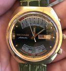 "WITTNAUER ""2002-1"" Perpetual Calendar Automatic Men's W102 17J Watch green"