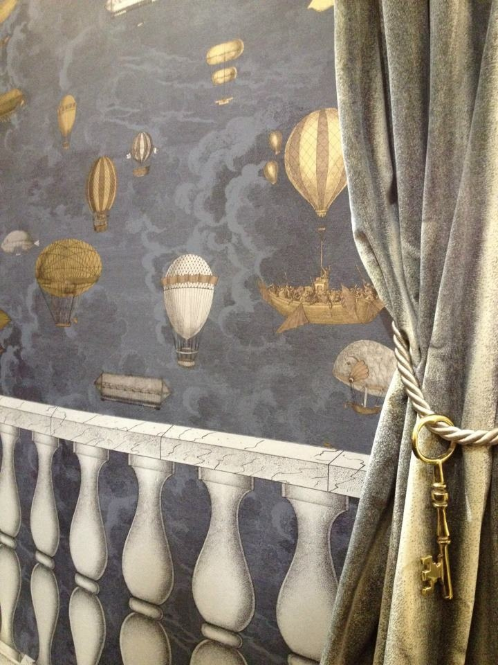 cole son fornasetti ii collection wallpapers 39 balaustra 39 and 39 macchine volanti 39 at the. Black Bedroom Furniture Sets. Home Design Ideas
