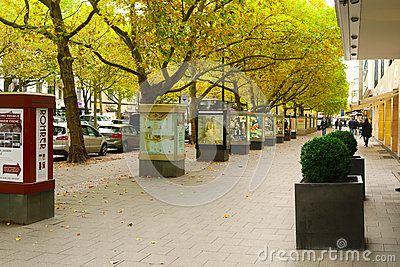 BERLIN, #GERMANY - OCTOBER 21 2015 : Famous shopping street #Kurfurstendamm (#Ku'Damm) in #Berlin.