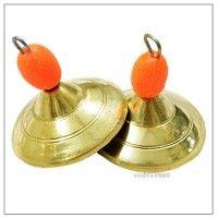 Manjira, manjeera, online seller Bells sound Vedicvaani.com. Brass manjira, manjeera kartal made of brass metal for Katha Paath, Hanuman chalisa pooja paath.
