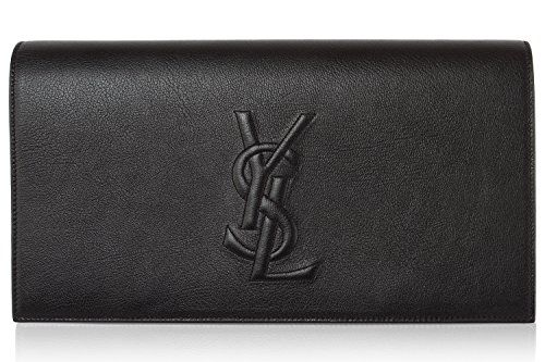 YSL Yves Saint Laurent Women's Leather Large Belle de Jour Clutch