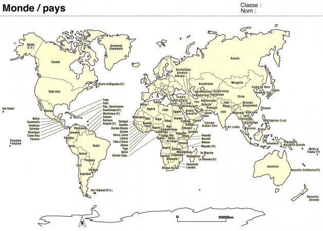 Carte Des Pays Du Monde Planisphere A Imprimer Avec Nom Des Pays Noms Des Pays Planisphere A Imprimer Carte Du Monde Imprimable