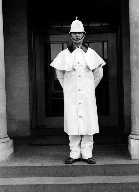Salford City White Uniform by Greater Manchester Police.  1950's