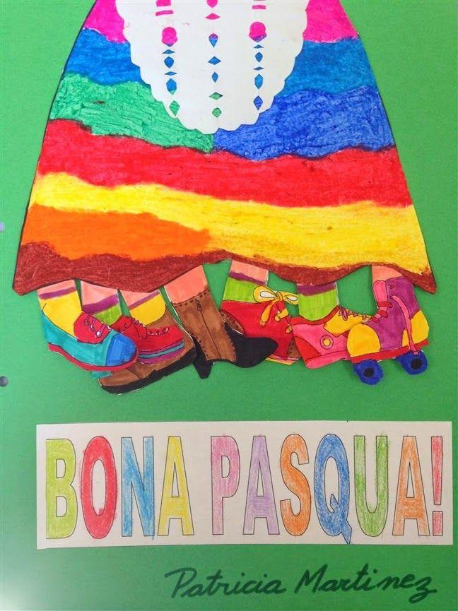 PASCUA 2on TRIMESTRE - Material: paper, tisores, colors, cola - Nivell: Primària CI 2014/15