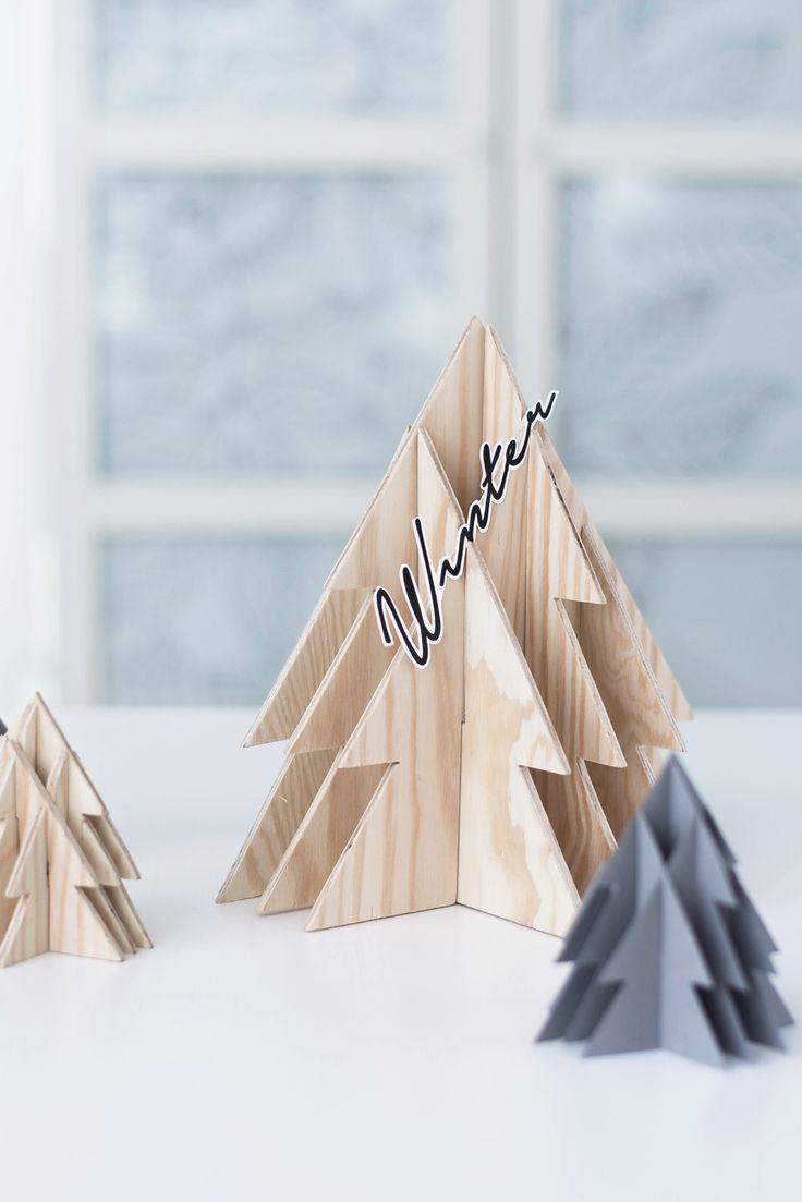DIY 3-D Tannenbaum aus Holz #sinnenrausch #sinnenrauschAdventskalender #diy