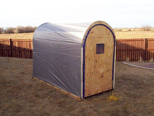 Diy ice shanty google search ice fishing pinterest for Hunting shack floor plans