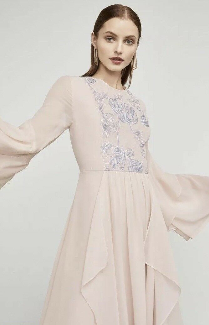 be06ecc68d29 NWT BCBG BCBGMAXAZRIA MAXAZRIA Nel Embroidered Handkerchief Dress Size M  Medium   eBay