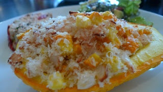 siriously delicious: Stuffed Crooked Neck Squash