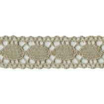 3/4'' Tan Cotton Lace Trim