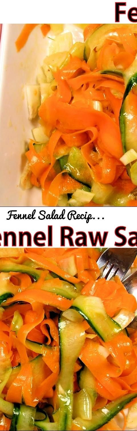 Fennel Salad Recipe With Shaved Carrot & Cucumber - Raw Vegan Homemade Veggie Dish | The Food Nut... Tags: fennel salad recipes, fennel salad, salad with fennel, fennel recipe, vegan salad, cucumber fennel salad, raw salad, vegan fennel salad, carrot fennel salad, carrot cucumber salad, carrot and cucumber salad, fennel bulb recipes, shaved carrot salad, carrot salad recipe, cucumber carrot salad, healthy cucumber salad, veggie salad, vegetable salad, vegetable side dish recipes, recipe…