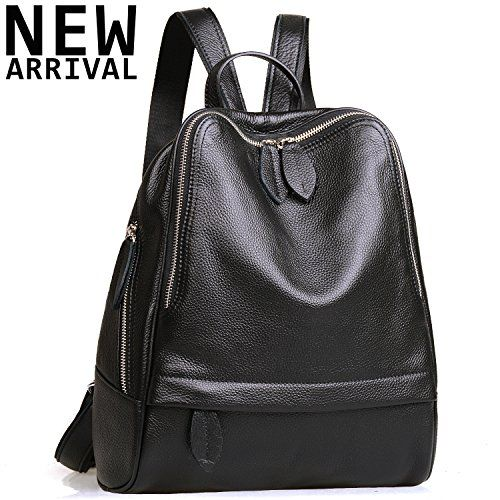 Jack&Chris Chic Backpack Purse Leather Backpack for Women Zipper School Handbags, WB204 $99.00