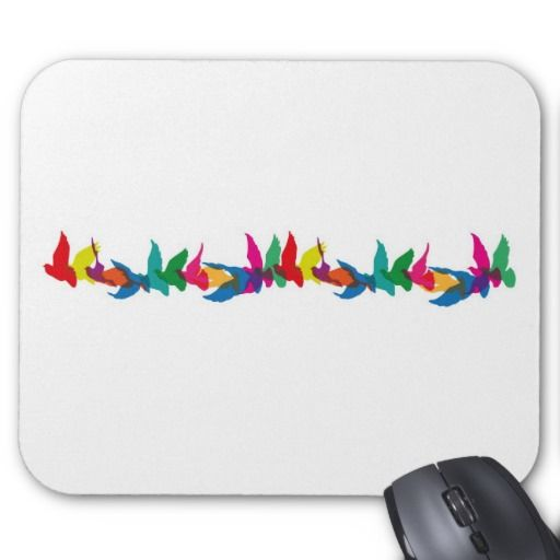 A colourful flight of fancy mouse pad