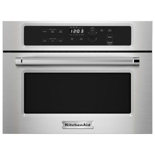 KitchenAid - 1.4 Cu. Ft. Built-In Microwave - Stainless Steel - Larger Front