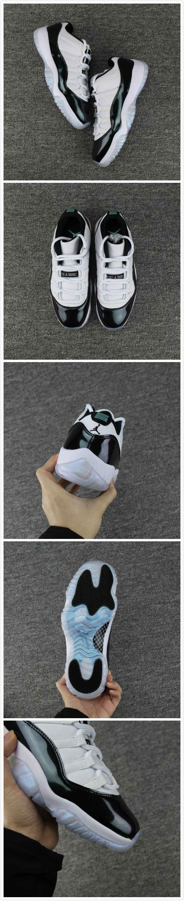 cheap Air Jordan 11 Low Easter White/Emerald Rise-Black Unisex shoes Free Shipping Size:36-47 WhatsApp:8613328373859