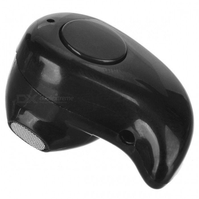 Mini Concealed Wireless Bluetooth In-Ear Mono Earpiece Earphone -Black - Free Shipping - DealExtreme