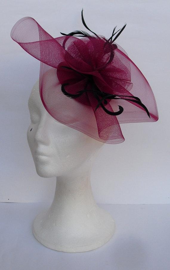 Royal Blue Fascinator Hat Blue Headpiece Bridesmaids