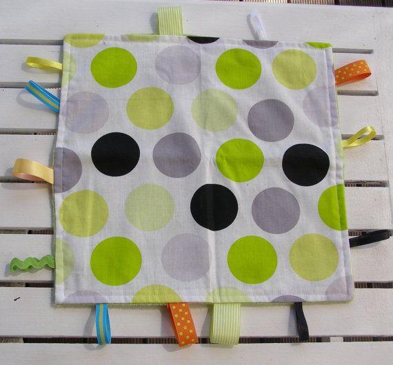 baby taggie blanket ribbon blanket gender by BlackTulipQuilts, $20.00