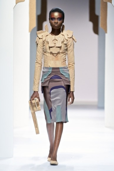 Suzaan Heyns using cork from Amorin in her latest fashion range 2013
