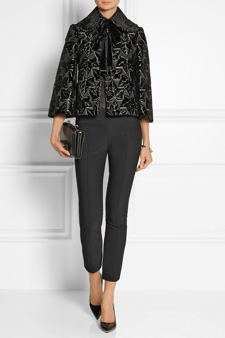 Alexander McQueen | Flocked woven silk-blend jacket | NET-A-PORTER.COM