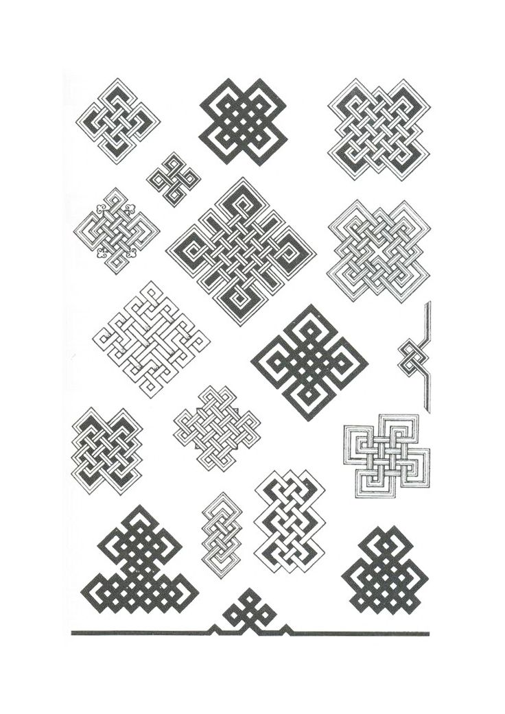 Монгольский орнамент. Узлы, плетнки.
