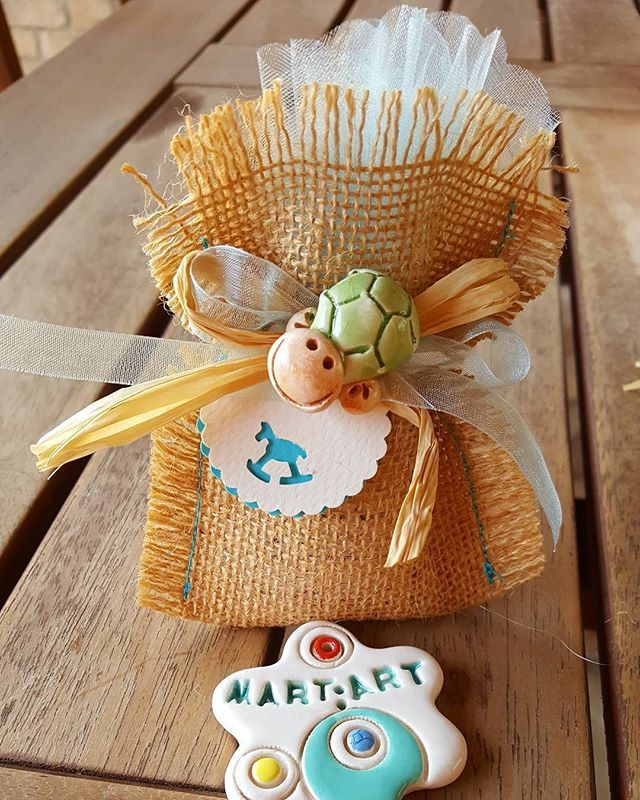 #tartaruga #ceramicart #ceramics #fattoamano #handmed #argilla #terracotta #artigianato #battesimo #kids #childrens #ceramica #confettata #cerimonia #