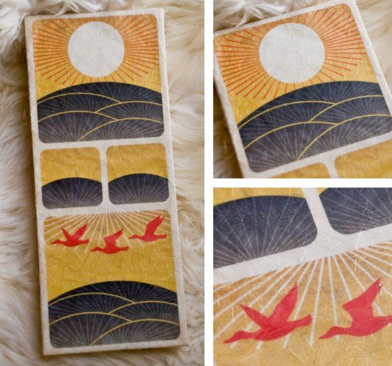 HwaTu / Hanafuda Card Design  August / Pampas Grass by alterna180