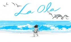 """""""La Ola""""    En este sugerente libro sin palabras Lee nos cuenta la historia de una niña en un día de playa. La impresionante simplicidad de las ilustraciones, en tan sólo dos tonos de acuarela, crea una vibrante e inolvidable historia llena de alegría y risas."""