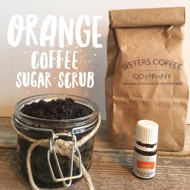 Orange ☕️Coffee Sugar Scrub #DIY with   Young Living Orange Oil      Recipe on Blog