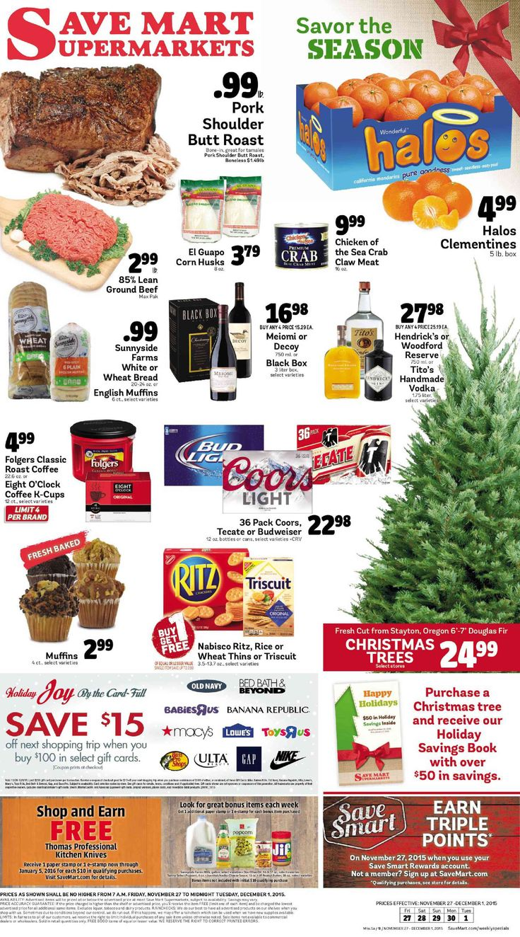 Save Mart Weekly ad November 27 - December 1, 2015 - http://www.olcatalog.com/save-mart/save-mart-weekly-ad.html