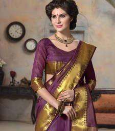 Buy purple woven Silk saree with blouse manipuri-silk-saree online