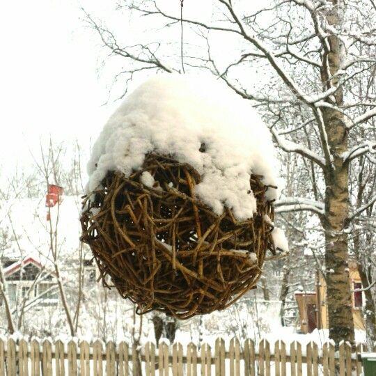 Punottu pallo joulukuussa