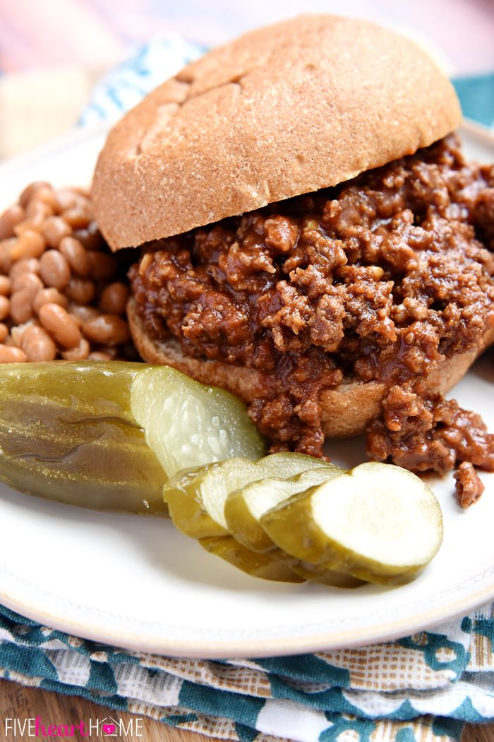 inspirational bracelets Homemade Sloppy Joes   ditch the store bought can of sauce for these quick and easy  all natural Sloppy Joes with no additives or preservatives   and they taste better  too    FiveHeartHome com