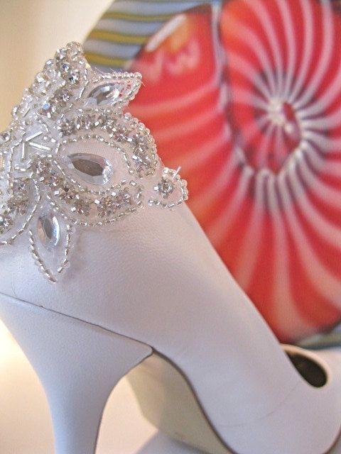 Bridal Shoe ClipCrystal Shoe ClipRhinestone Shoe by ctroum on Etsy, $50.00
