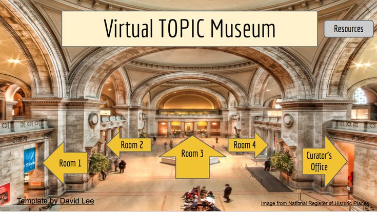 Virtual Museum Template Using Google Slides Presentation.  Have your students create a virtual museum instead of just another boring slide show.
