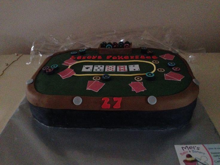 Poker tafel taart