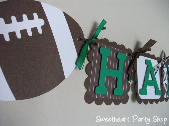 Happy Birthday Banner for a Football Themed Party